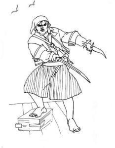 Пираты картинки раскраски (24)