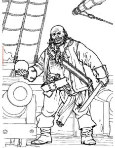 Пираты картинки раскраски (26)