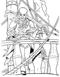 Пираты картинки раскраски (27)