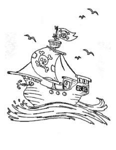 Пираты картинки раскраски (29)
