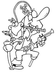 Пираты картинки раскраски (3)