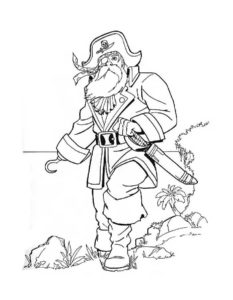 Пираты картинки раскраски (30)