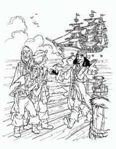 Пираты картинки раскраски (31)