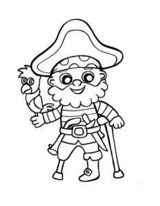 Пираты картинки раскраски (32)