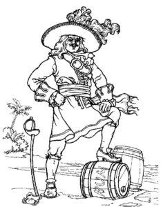 Пираты картинки раскраски (35)