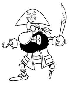 Пираты картинки раскраски (4)