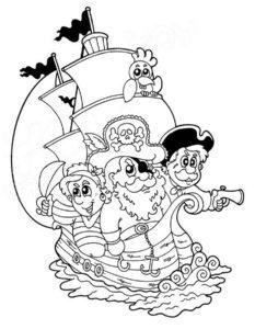 Пираты картинки раскраски (5)