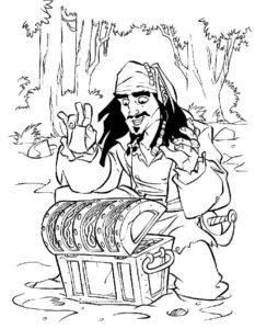 Пираты картинки раскраски (6)