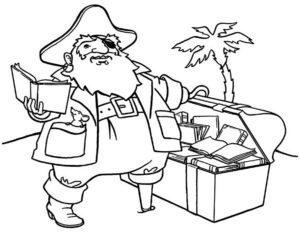 Пираты картинки раскраски (7)