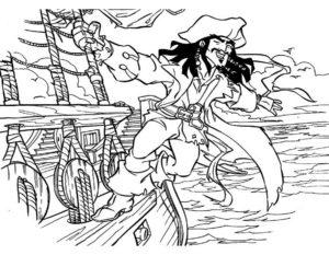 Пираты картинки раскраски (8)