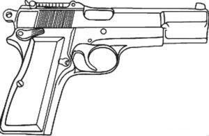 Пистолет картинки раскраски (1)