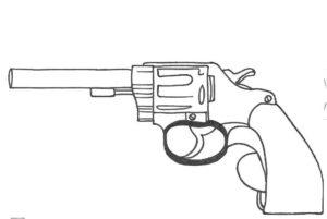 Пистолет картинки раскраски (10)