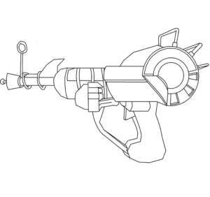 Пистолет картинки раскраски (12)