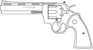 Пистолет картинки раскраски (14)