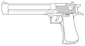 Пистолет картинки раскраски (16)