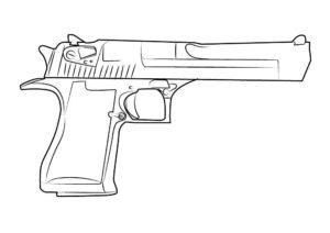 Пистолет картинки раскраски (17)