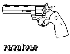 Пистолет картинки раскраски (18)