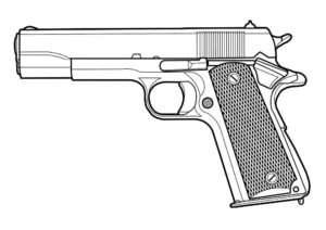 Пистолет картинки раскраски (2)