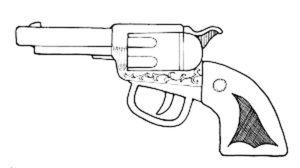Пистолет картинки раскраски (20)