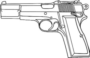 Пистолет картинки раскраски (23)