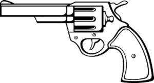 Пистолет картинки раскраски (24)