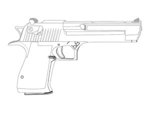 Пистолет картинки раскраски (25)