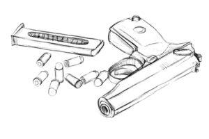 Пистолет картинки раскраски (26)