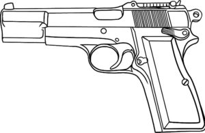 Пистолет картинки раскраски (27)