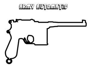 Пистолет картинки раскраски (28)