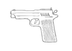 Пистолет картинки раскраски (3)