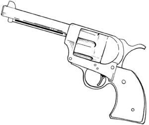 Пистолет картинки раскраски (31)