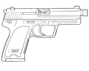 Пистолет картинки раскраски (32)