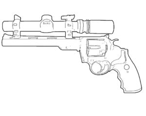 Пистолет картинки раскраски (34)