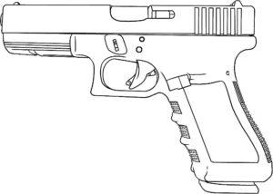 Пистолет картинки раскраски (35)
