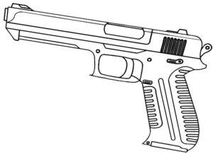 Пистолет картинки раскраски (36)