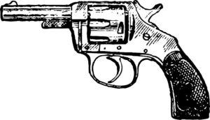Пистолет картинки раскраски (39)