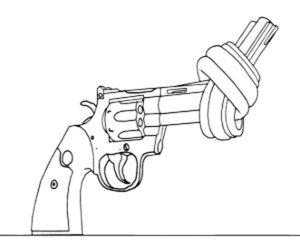 Пистолет картинки раскраски (41)