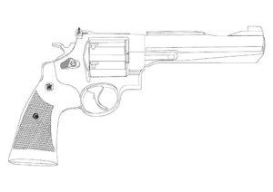 Пистолет картинки раскраски (7)
