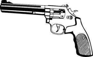 Пистолет картинки раскраски (9)