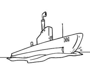 Подводная лодка картинки раскраски (13)