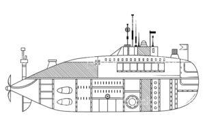 Подводная лодка картинки раскраски (14)