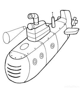 Подводная лодка картинки раскраски (16)