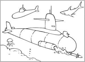Подводная лодка картинки раскраски (17)