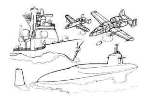 Подводная лодка картинки раскраски (20)