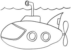 Подводная лодка картинки раскраски (22)