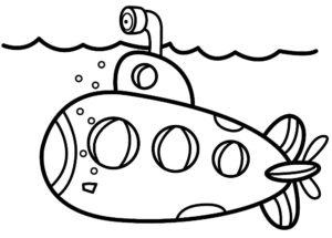 Подводная лодка картинки раскраски (23)