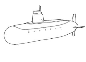 Подводная лодка картинки раскраски (26)