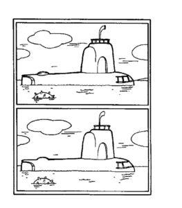 Подводная лодка картинки раскраски (27)