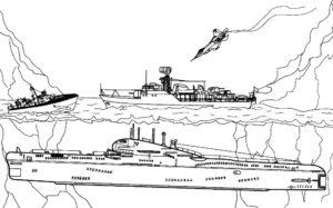 Подводная лодка картинки раскраски (29)