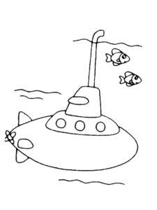 Подводная лодка картинки раскраски (30)